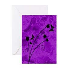 purple forest journal Greeting Card