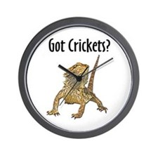 Bearded Dragon Got Crickets Wall Clock