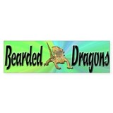 Bearded Dragon Bumper Sticker w/ green background