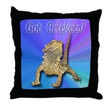 Bearded Dragon Got Crickets Throw Pillow