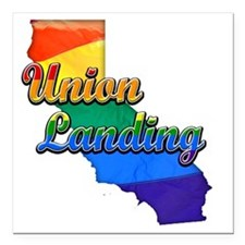 "Union Landing Square Car Magnet 3"" x 3"""