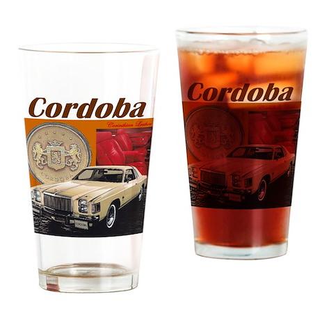 1979 Chrysler Cordoba Design Drinking Glass