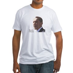 Barack Obama Portrait Fitted T-Shirt
