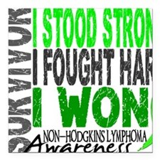 "D Survivor 4 Lymphoma No Square Car Magnet 3"" x 3"""