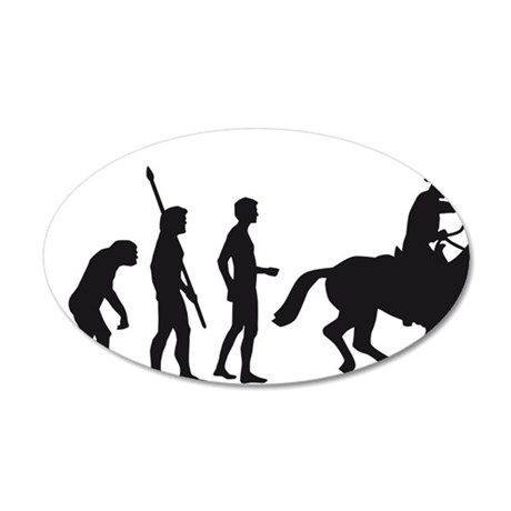 Evolution Cowboy 35x21 Oval Wall Decal