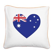 Australian Heart Square Canvas Pillow