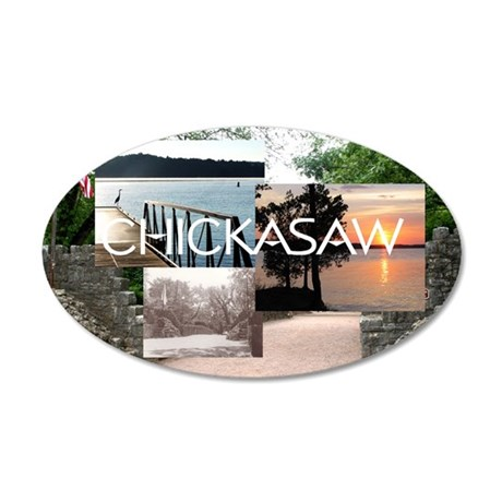 chickasaw1 35x21 Oval Wall Decal