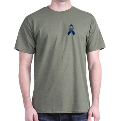 Dark Blue Awareness Ribbon Dark T-Shirt