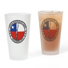 Chile Santiago East LDS Mission Fla Drinking Glass
