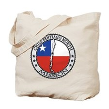 Chile Santiago North LDS Mission Flag Cut Tote Bag