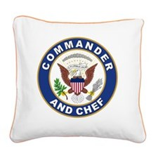 commander and chef Square Canvas Pillow