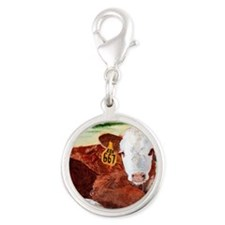 calfnote Silver Round Charm