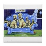 Wheaten family Tile Coaster
