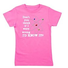 dont_you_think_white_letter Girl's Tee