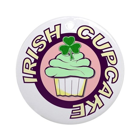Irish Cupcake Ornament (Round)