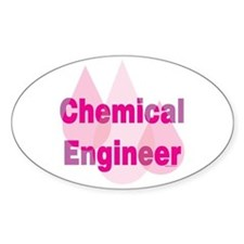Pink Chemical Engineer Oval Decal