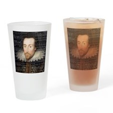 shakespeare hamlet shower curtain Drinking Glass