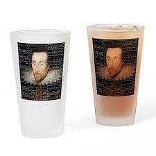 shakespeare hamlet shower curtain Drinking Glass