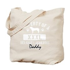 belgian lakeanois dad property white Tote Bag