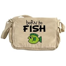 born to fish Messenger Bag