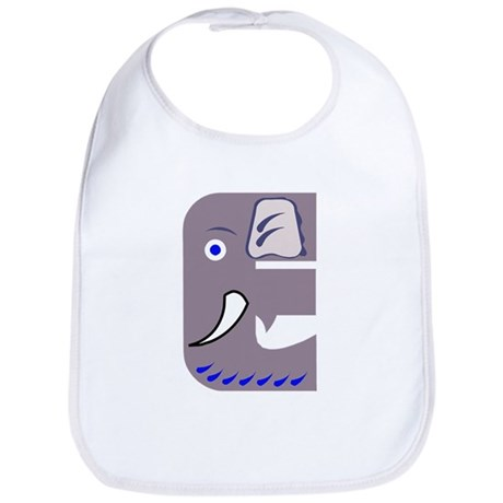 E is for Elephant Bib