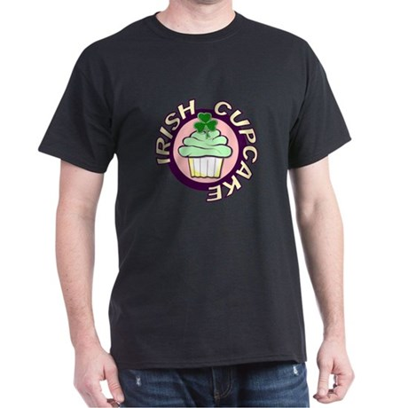St. Patrick's Day Cupcake Dark T-Shirt