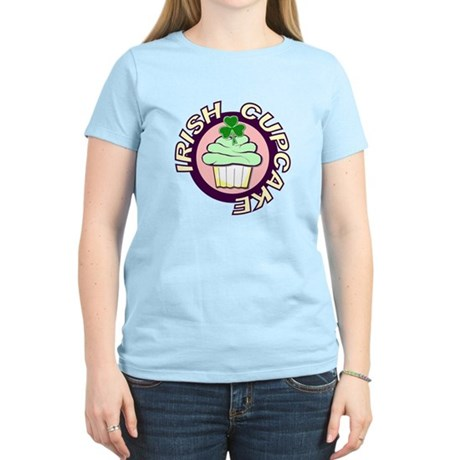St. Patrick's Day Cupcake Women's Light T-Shirt