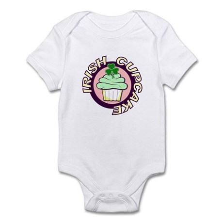 St. Patrick's Day Cupcake Infant Bodysuit