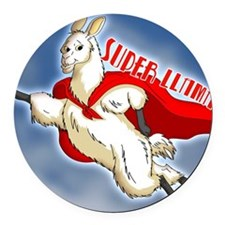 SUPER-LLAMA-THROW-PILLOW.gif Round Car Magnet