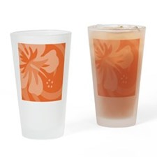 Orange Shower Drinking Glass