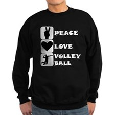 Peace Love Volleyball Sweatshirt