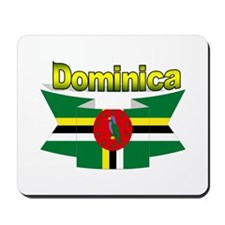 Dominica republic flag ribbon Mousepad