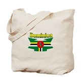 Dominica republic flag ribbon Tote Bag