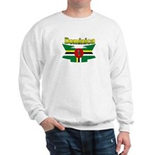 Dominica republic flag ribbon Sweatshirt