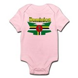 Dominica republic flag ribbon Infant Bodysuit