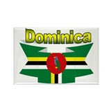 Dominica republic flag ribbon Rectangle Magnet