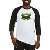 Dominica republic flag ribbon Baseball Jersey