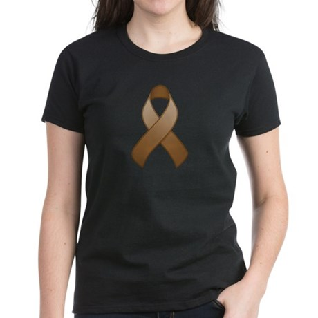 Brown Awareness Ribbon Women's Dark T-Shirt