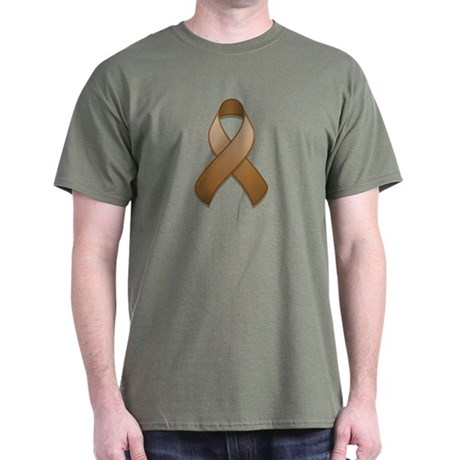 Brown Awareness Ribbon Dark T-Shirt