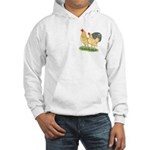 Blue-tail Buff Pair Hooded Sweatshirt