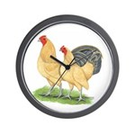 Blue-tail Buff Pair Wall Clock