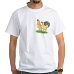 Blue-tail Buff Pair White T-Shirt