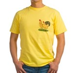 Blue-tail Buff Pair Yellow T-Shirt