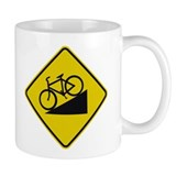 Biking Road Sign Small Mug