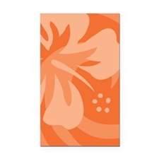 Orange-Twin Rectangle Car Magnet