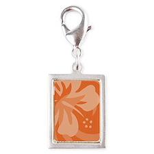 Orange-Twin Silver Portrait Charm