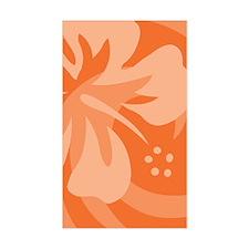 Orange-Twin Bumper Stickers