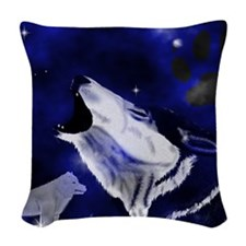 WolfSpirit_king_duvet Woven Throw Pillow