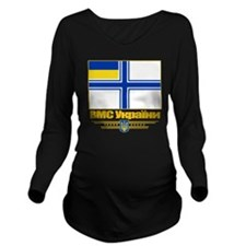 Ukraine Naval Ensign Long Sleeve Maternity T-Shirt