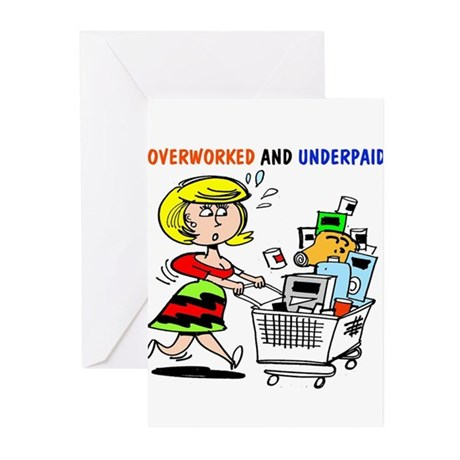 Cute shopper Greeting Cards (Pk of 10)